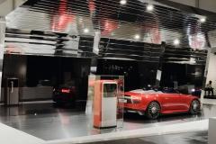 """Audi exhibits futuristic """"e-den"""" charging station created by Munich-based graphic design studio Mirko Borsche at Design Miami"""